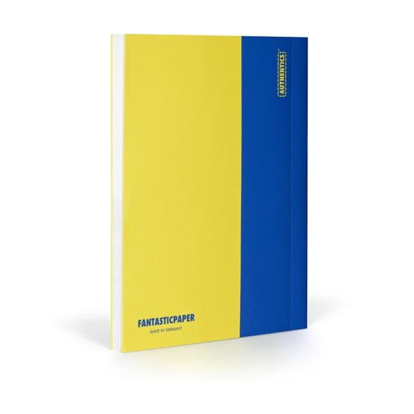 Zápisník FANTASTICPAPER XL Lemon/Blue, čtverečkový