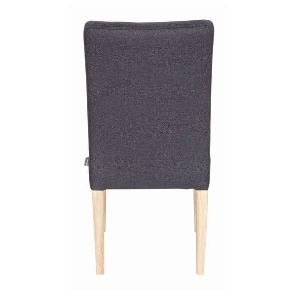 Sada 2 dřevěných židlí Tijmen Anthracite Oak