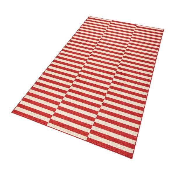 Červený běhoun Hanse Home Gloria Panel, 80 x 300 cm