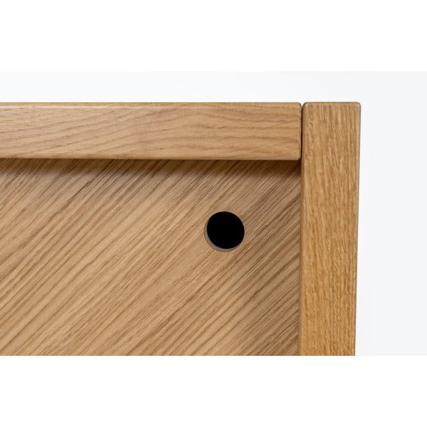 Comodă din lemn de stejar Woodman Cubis, maro - alb