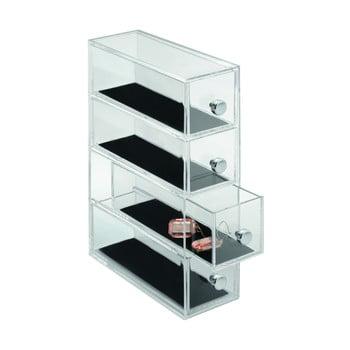 Organizator cu 4sertare iDesign Clarity, înălțime 25,5 cm de la iDesign