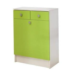 Zelená skříňka na prádlo 13CasaClick