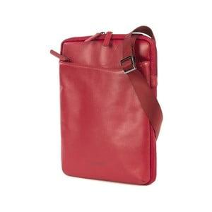 Červená taška crossbody z italské kůže Tucano City Bag