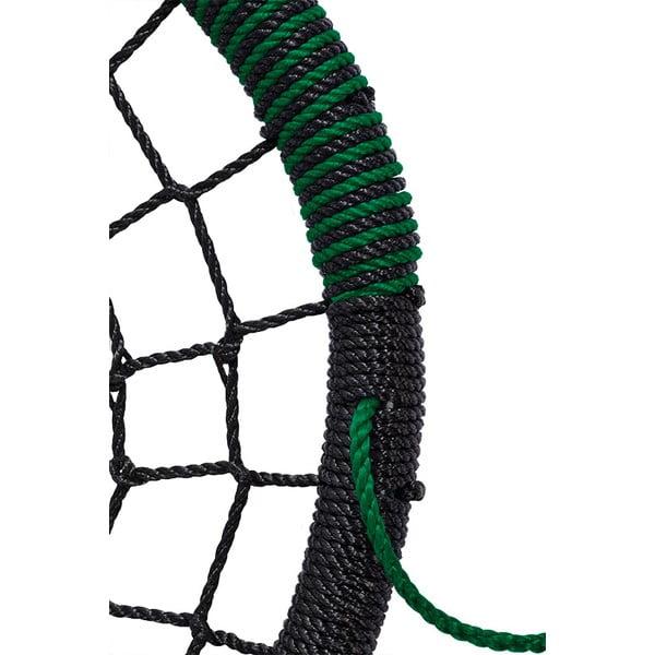 Houpačka hnízdo, zelená/černá