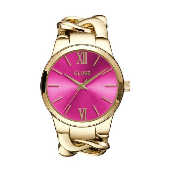 Dámské hodinky Elegante Gold/Cerise, 38 mm