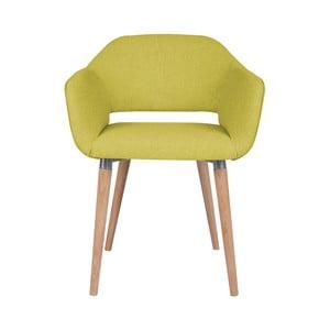 Žlutá jídelní židle Cosmopolitan Design Napoli