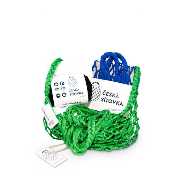 Sada 4 síťovek - zelená/černá/modrá/zelená