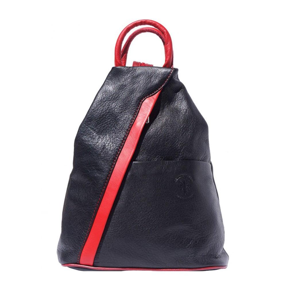 Černý kožený batoh Luciano Calboni Claudia