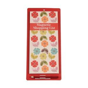 Suport magnetic pentru lista de cumpărături Rex London Poppy