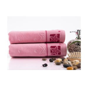 Sada 2 ručníků Shell Pink, 50x90 cm