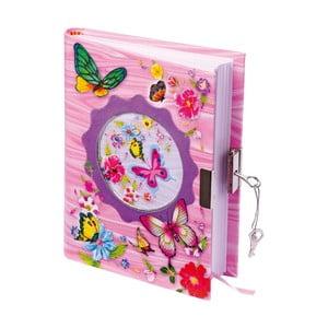 Dětský růžový diář Legler Butterfly