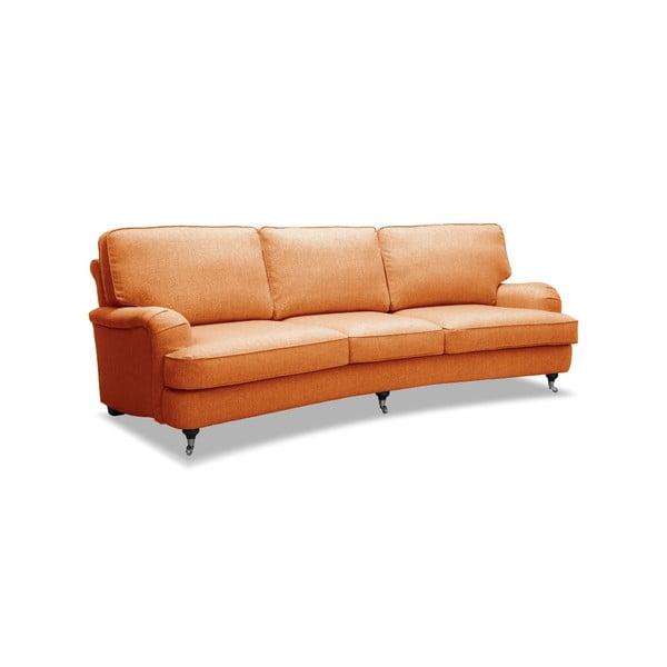 Oranžová pohovka na kolečkách Vivonita William