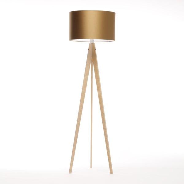 Zlatá stojací lampa 4room Artist, bříza, 150 cm