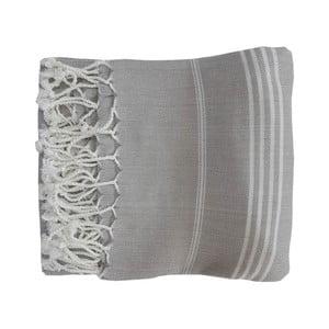 Prosop țesut manual din bumbac premium Sultan, 100 x 80 cm, gri