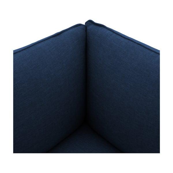 Tmavě modré křeslo Vivonita Cube, levá strana