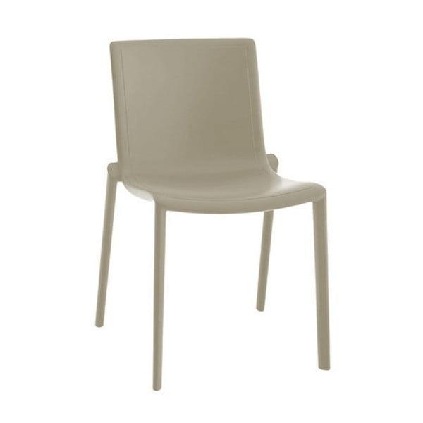Sada 2 pískově hnědých zahradních židlí Resol Kat
