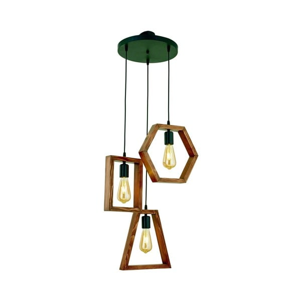 Závěsné svítidlo z habrového dřeva Simetri