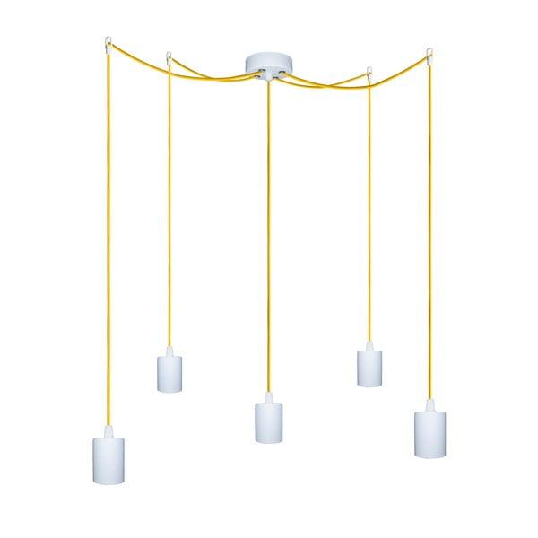 Pět závěsných kabelů Cero, žlutý/bílý