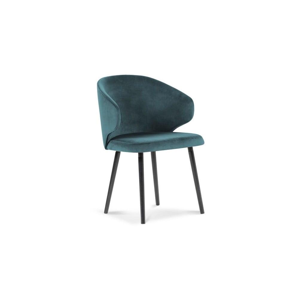 Produktové foto Petrolejově modrá jídelní židle se sametovým potahem Windsor & Co Sofas Nemesis