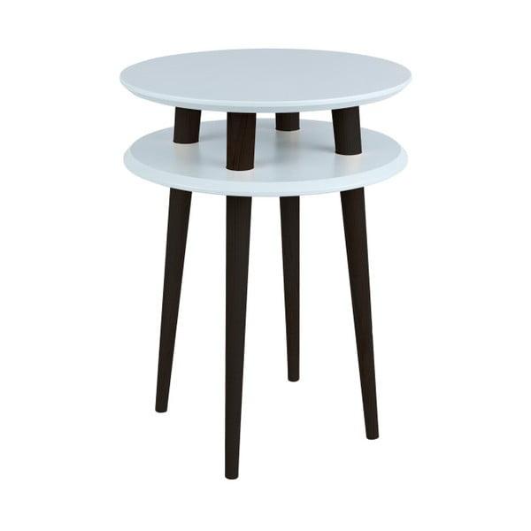 UFO világosszürke kisasztal fekete lábakkal, Ø 45 cm - Ragaba