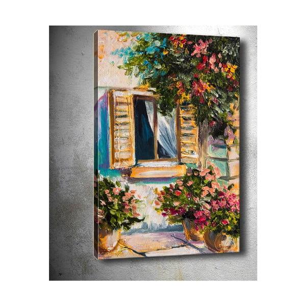 Flowers Pots kép, 50 x 70 cm - Tablo Center