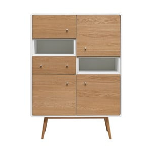 Vitrína ze dřeva bílého dubu Unique Furniture Turin