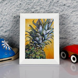 Zarámovaný obraz Dekorjinal Pouff Zoom Peanapple, 23x17cm