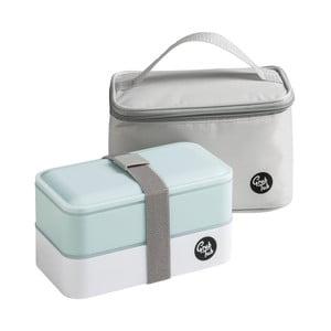 Set světle modrého svačinového boxu a tašky Premier Housewares Grub Tub