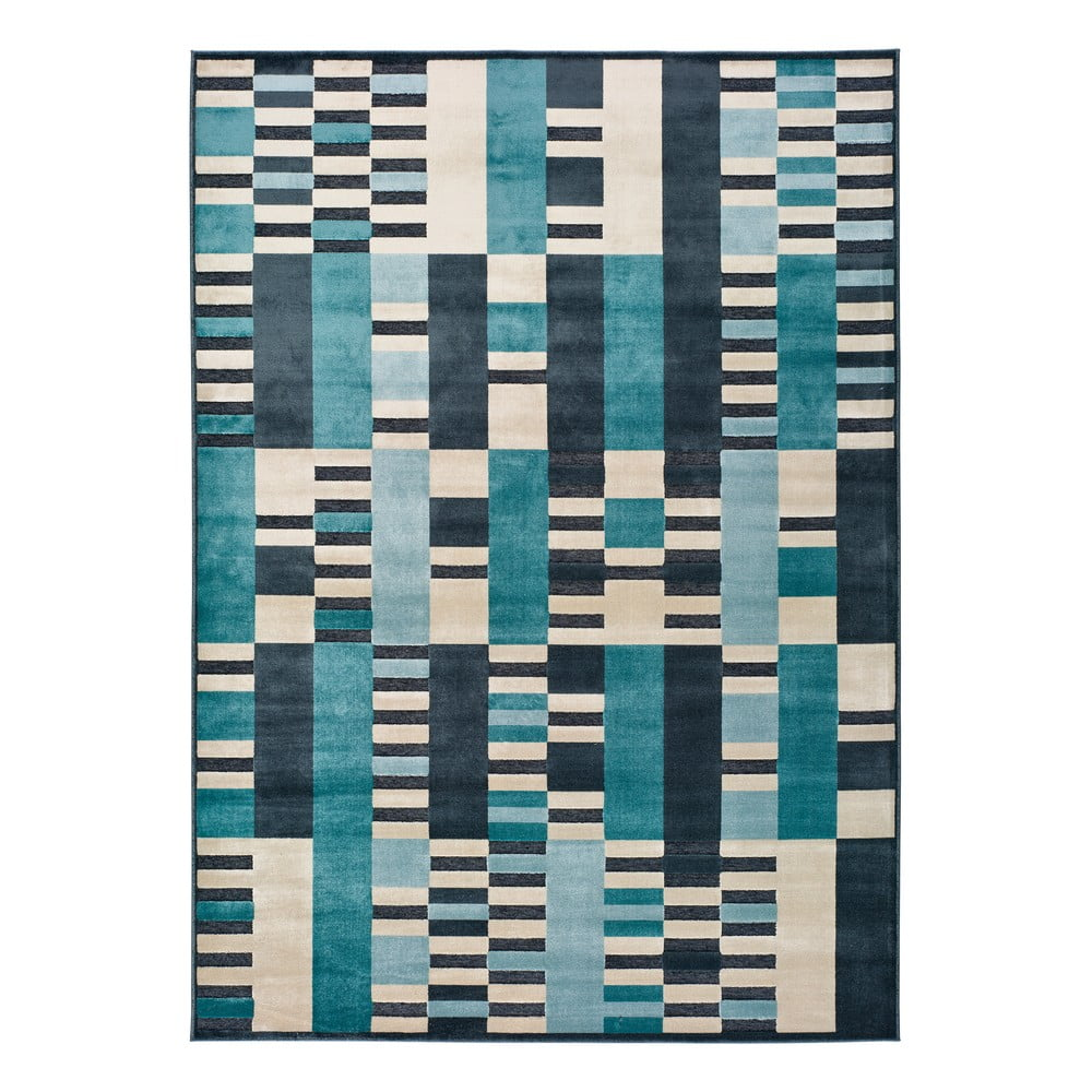 Modrý koberec Universal Farashe Stripes, 120 x 170 cm