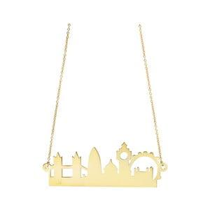Náhrdelník London City Skyline, zlatý
