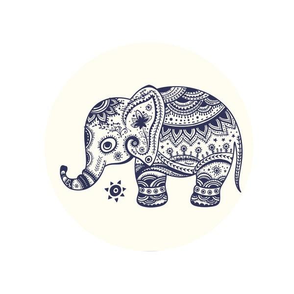 Sada 2 odkládacích stolků Aztec Elephants, 35 cm + 49 cm