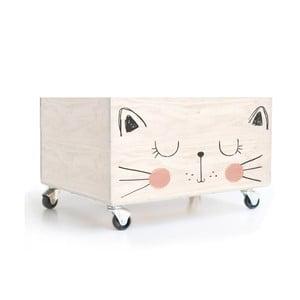 Cutie cu roți pentru jucării Little Nice Things Cat