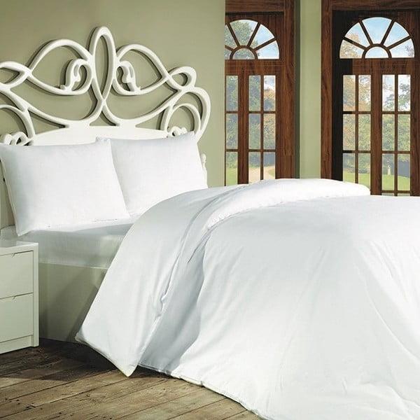 Lenjerie de pat din bumbac cu cearșaf și fețe de pernă Plain, 200 x 220 cm