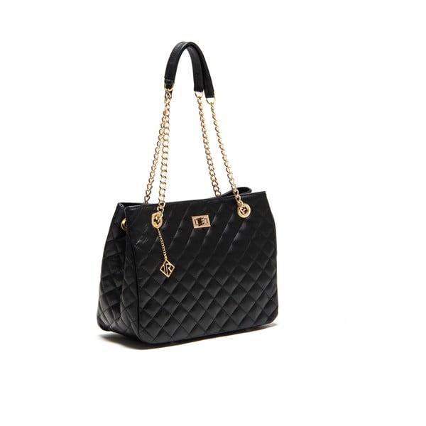 Černá kožená kabelka Isabella Rhea Vanessa