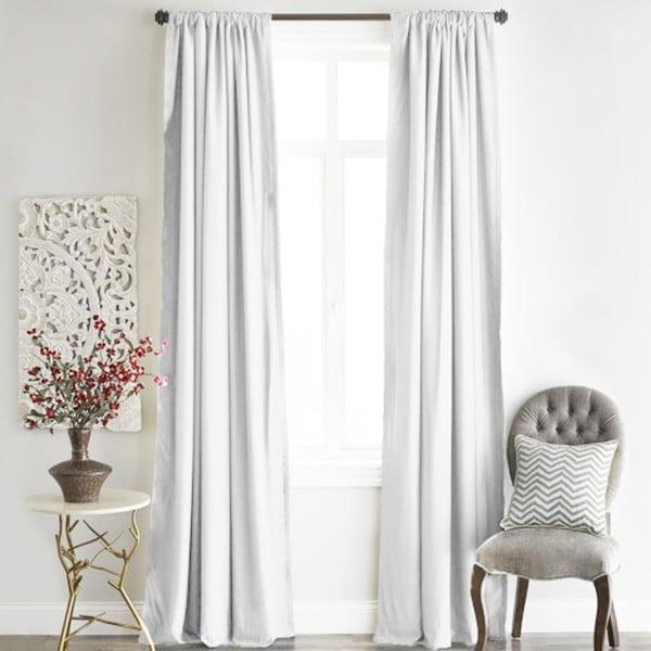 Bílý závěs Home De Bleu Blackout Curtain, 140x240cm