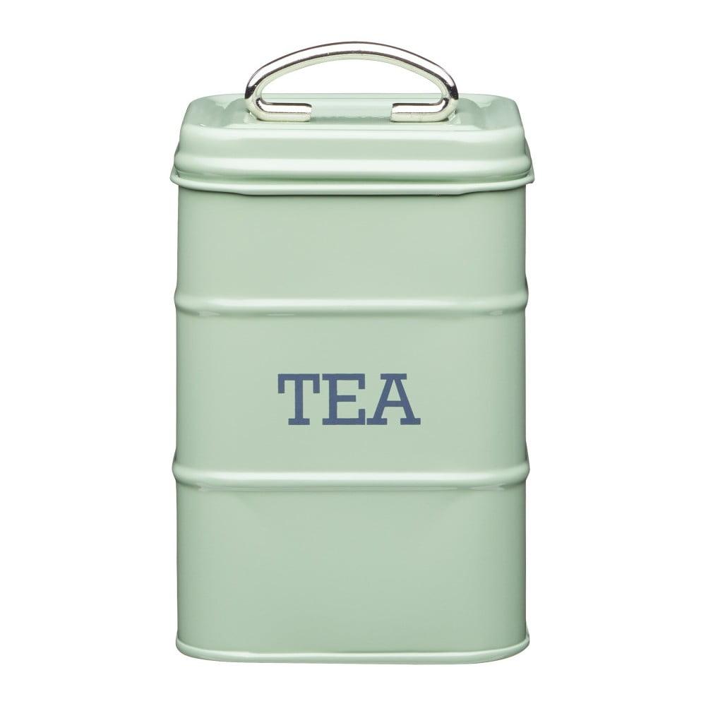 Zelená plechová dóza na čaj Kitchen Craft Nostalgia