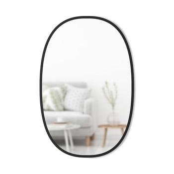 Oglinda de perete ovală și cadru de metal Umbra Hub, negru poza