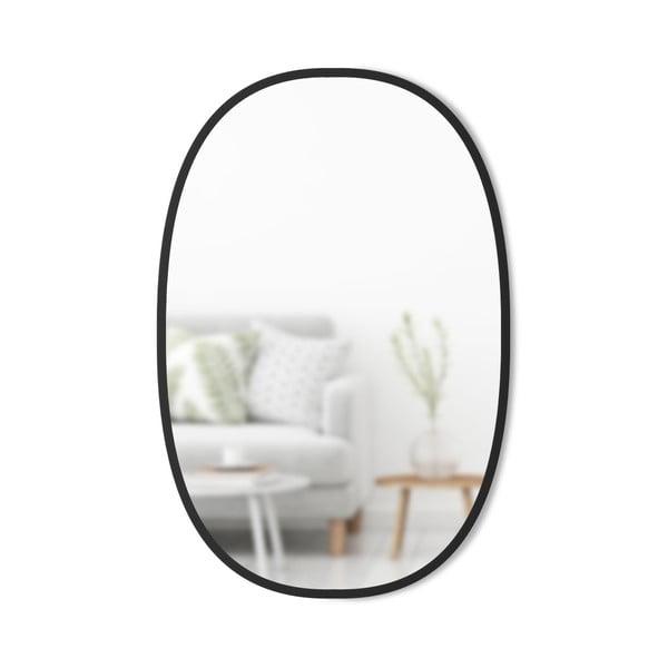 Oglinda de perete ovală și cadru de metal Umbra Hub, negru
