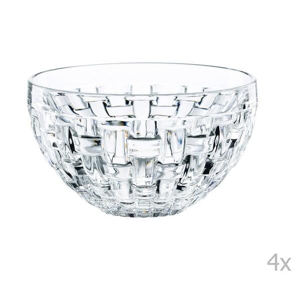 Zestaw 4 misek na dip ze szkła kryształowego Nachtmann Bossa Nova