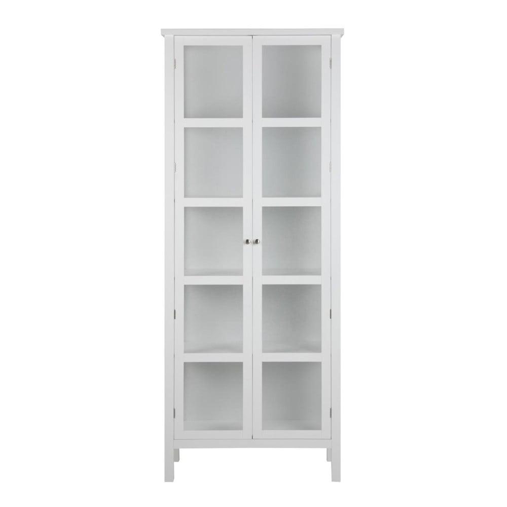 Bílá vitrína Actona Eton, výška 210 cm