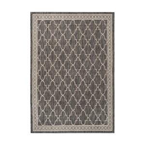 Černobéžový koberec vhodný i na ven Safavieh Grenada, 160 x 231cm