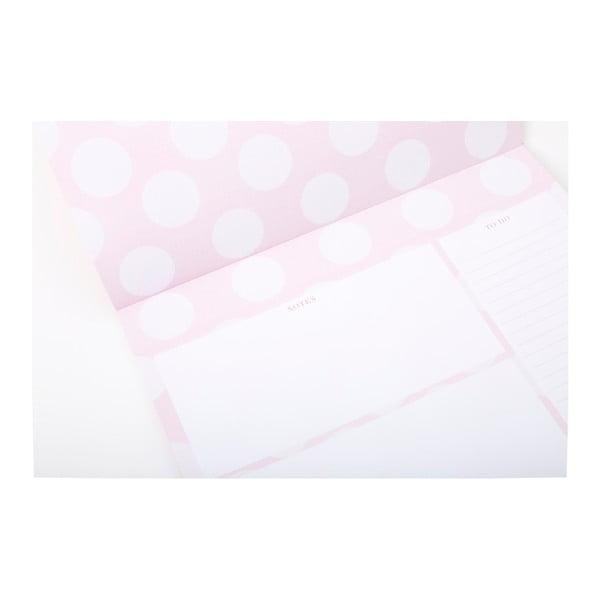 Růžový stolní plánovač GO Stationery Shimmer
