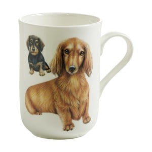 Hrnek z kostního porcelánu Maxwell & Williams Pets Dachshund, 330 ml