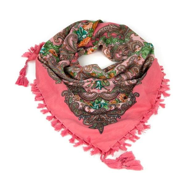 Šátek Folk Pink