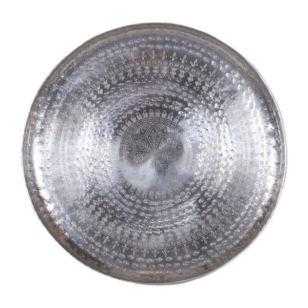 Dekorativní podnos ve stříbrné barvě De Eekhoorn Waitress, Ø44cm