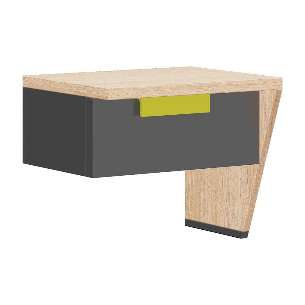 Noční stolek v dubovém dekoru Szynaka Meble Wow, pravá strana