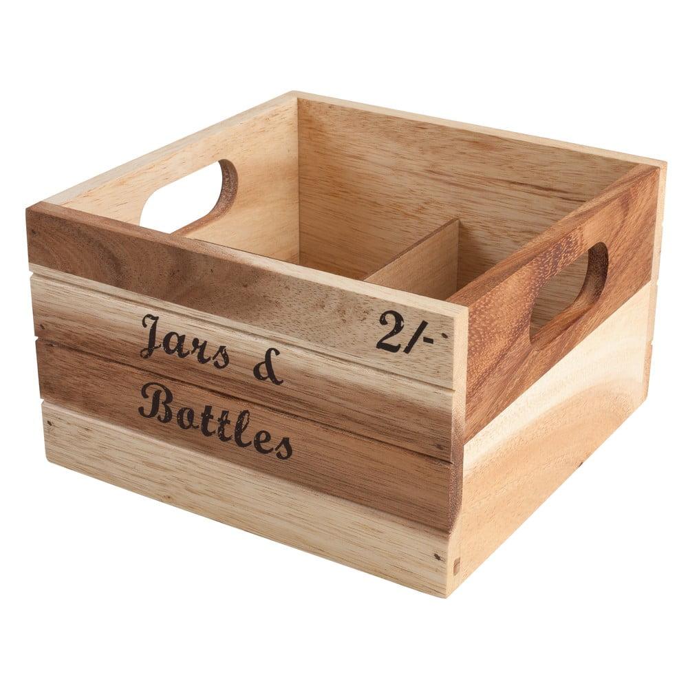 Dřevěná akáciová přenoska T&G Woodware Baroque Jars and Bottles