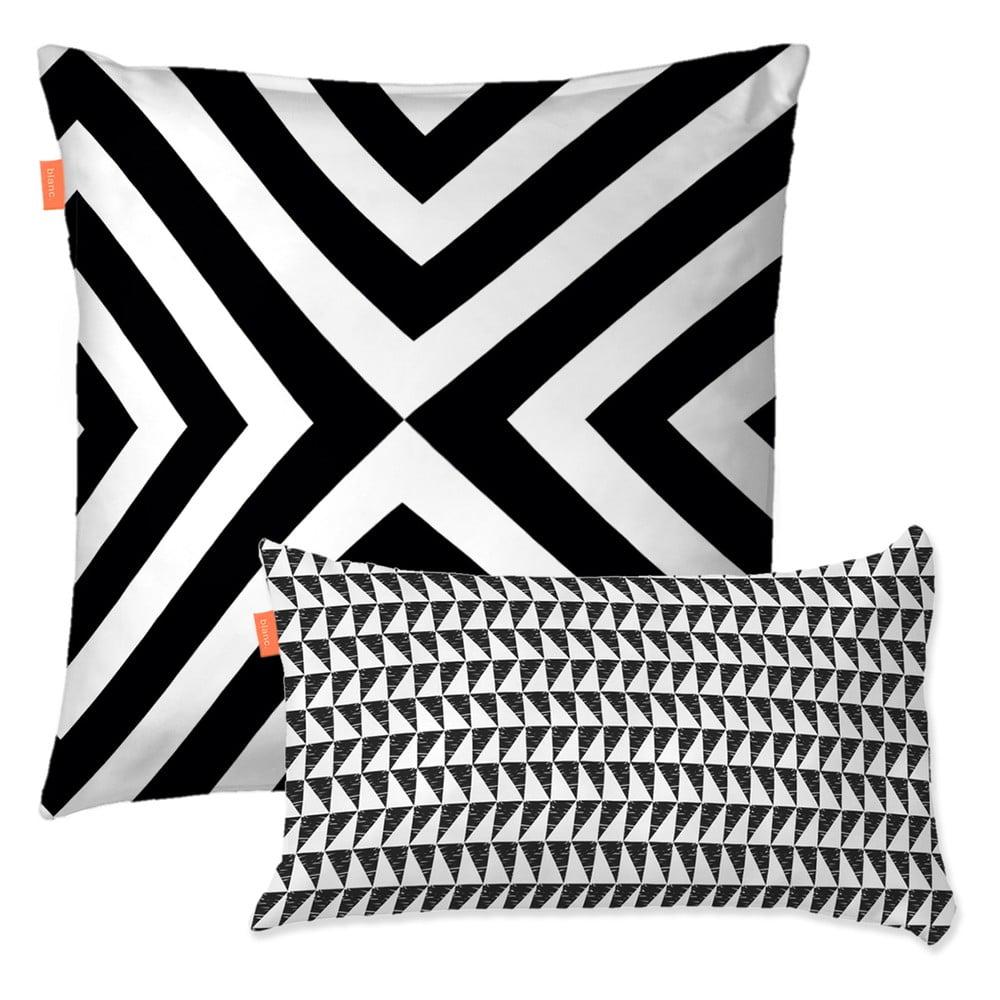 Sada 2 bavlněných povlaků na polštář Blanc Trip, 50 x 50 cm