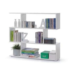 Bibliotecă 13Casa Zig Zag, alb