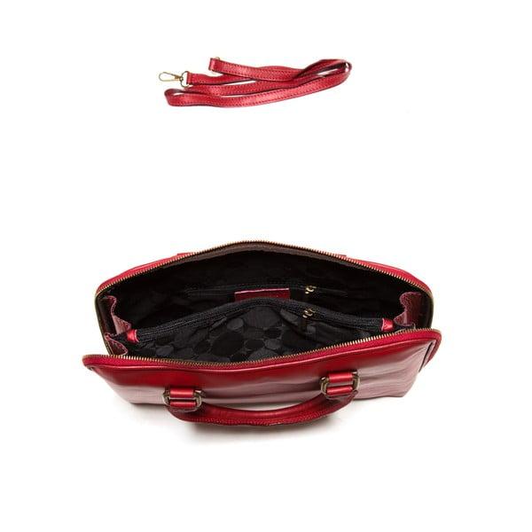 Kožená taška na notebook Anna Luchini 2120 Rosso